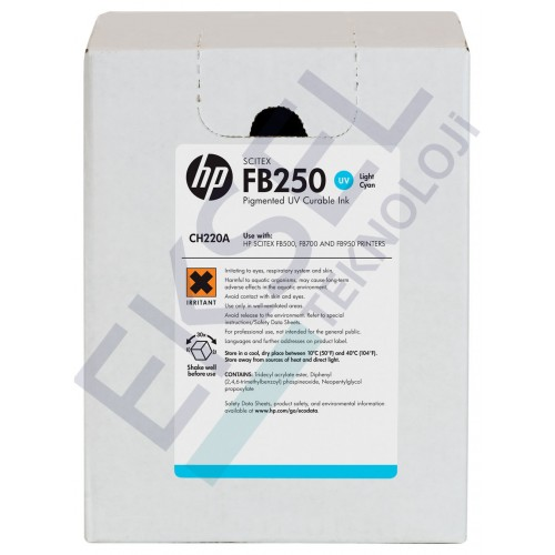 HP FB250 3-liter Light Cyan Scitex Ink