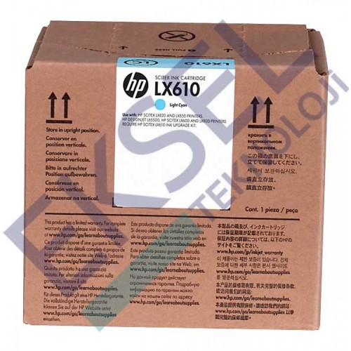HP LX610 3-liter Lt Cyan Latex Ink Crtg