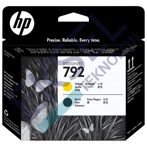 HP 792 Yellow/Black Designjet Printhead