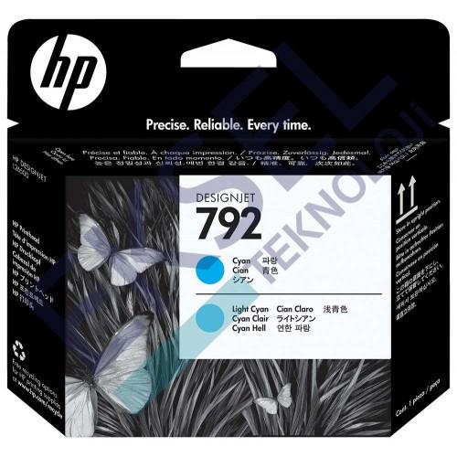 HP 792 Cyan/Light Cyan Designjet Printhead