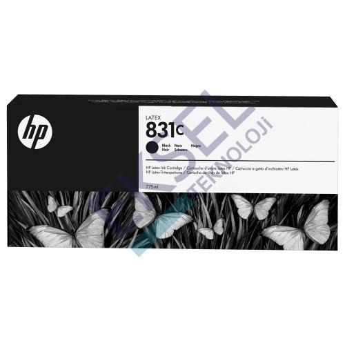 HP 831C 775ml Black Latex Ink Cartridge