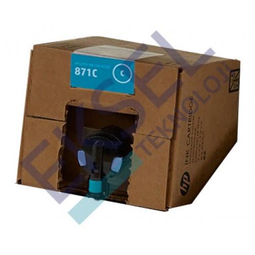 HP 871C 3000–ml Cyan Latex Ink Cartridge