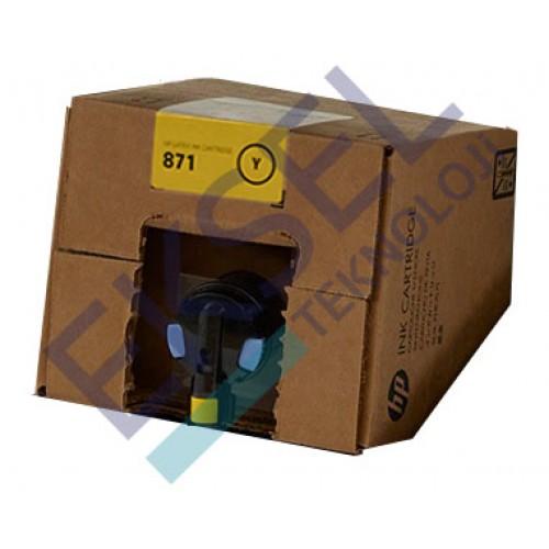 HP 871C 3000–ml Yellow Latex Ink Cartridge