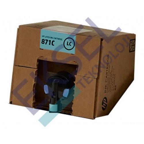 HP 871C 3000–ml Light Cyan Latex Ink Cartridge