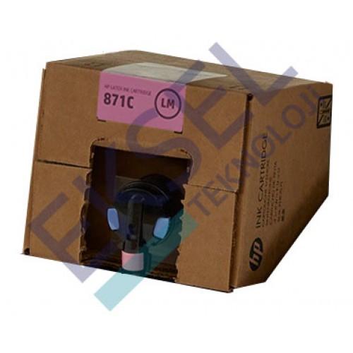 HP 871C 3000–ml Light Magenta Latex Ink Cartridge